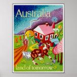 Vintage Posters Travel Historical Art Australia Print