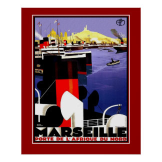Vintage Posters Travel Marseille France Large Size