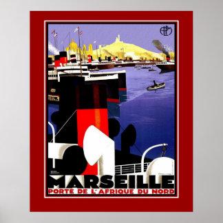 Vintage Posters Travel Marseille France Large Size Print