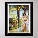 Vintage Posters Travel Visit Cuba Large Size Poster