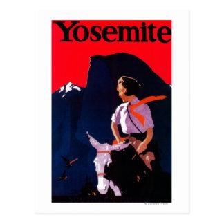 Vintage PosterYosemite, CA de Yosemite Tarjeta Postal