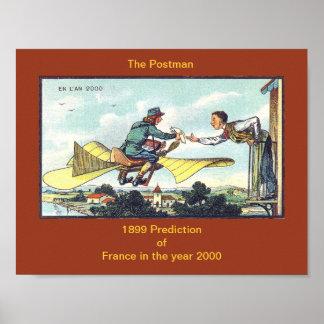 Vintage POSTMAN or MAILMAN 1899 Prediction of 2000 Poster