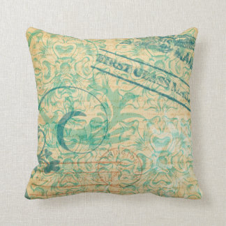 Vintage Postmarks Pillow