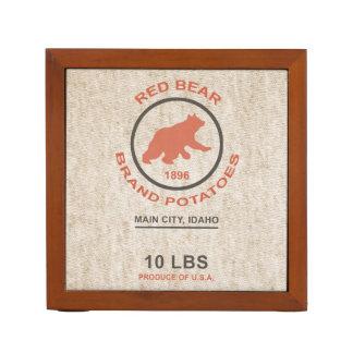 Vintage Potato Sack (Red Bear Brand) Desk Organizer