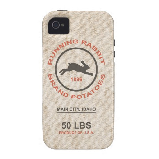 Vintage Potato Sack Vibe iPhone 4 Cover