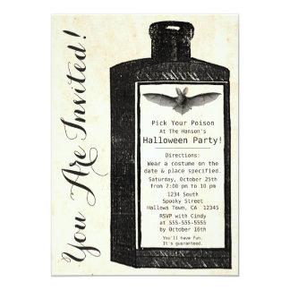Vintage Potion Bottle Halloween Invitation