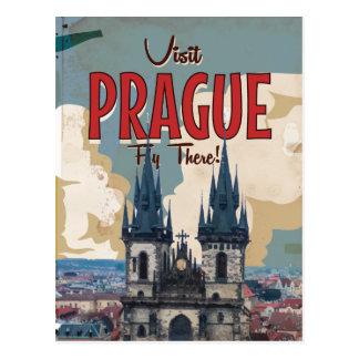 Vintage Praga, poster del viaje de la República Postal