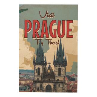 Vintage Prague, Czech Republic Travel Poster