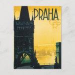 Vintage Praha Czech Postcard