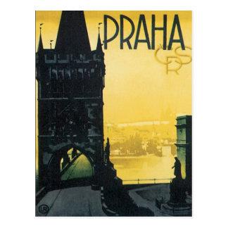 Vintage Praha Postcard