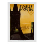 Vintage Praha Poster posters