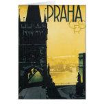 Vintage Praha Poster Greeting Card