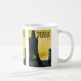 Vintage Praha Poster Classic White Coffee Mug