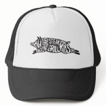 Vintage Praise the Lard Funny Pig Trucker Hat
