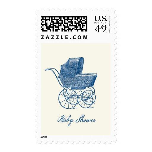 Vintage Pram Baby Shower Postage