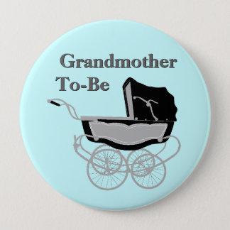 Vintage Pram Grandmother's Baby Shower Button