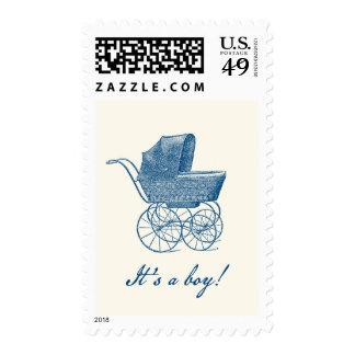 Vintage Pram It's a Boy! Postage