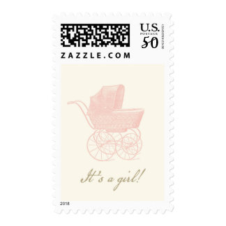 Vintage Pram It's a Girl Postage