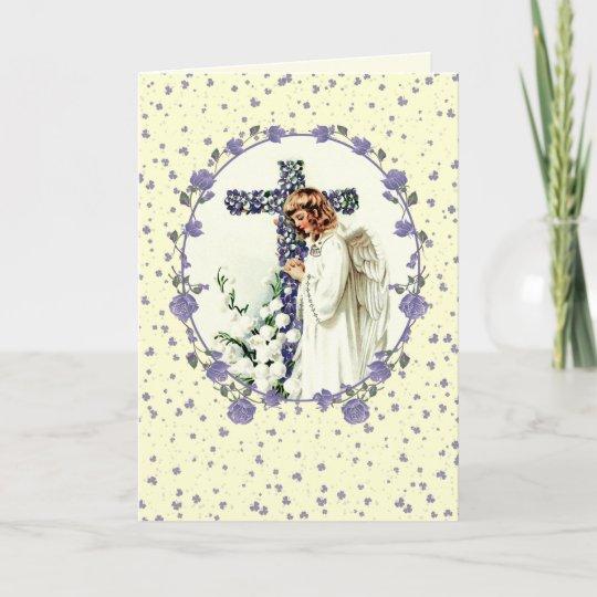 Vintage praying angel christian easter cards zazzle christian easter cards m4hsunfo