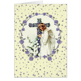 Vintage Praying Angel. Christian Easter Cards