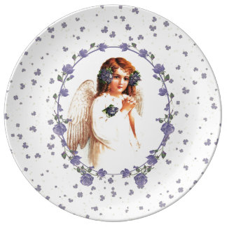 Vintage Praying Angel Easter Gift Porcelain Plates