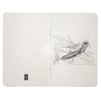 Vintage Praying Mantis Insect Template Journal