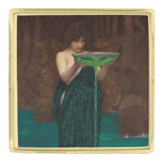 Vintage Pre-Raphaelite Art Circe Invidiosa Gold Finish Lapel Pin