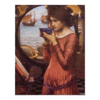 Vintage Pre-Raphaelite Woman Destiny Card