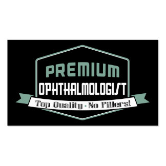 Vintage Premium Ophthalmologist Double-Sided Standard Business Cards (Pack Of 100)