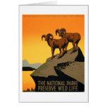 VIntage Preserve Wildlife Poster Card