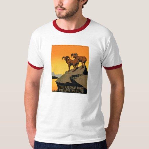 VIntage Preserve Wildlife Poster T-Shirt