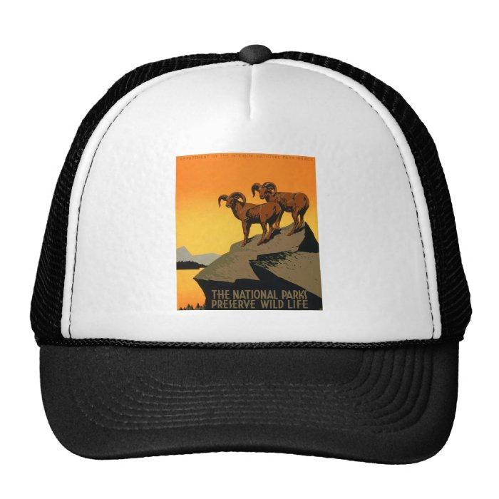 VIntage Preserve Wildlife Poster Trucker Hat