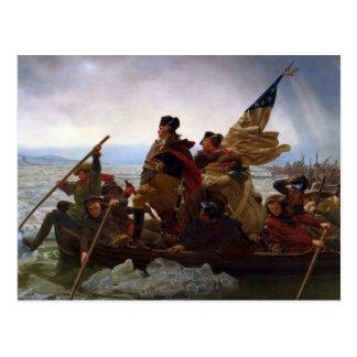 Vintage President George Washington the Crossing Postcard