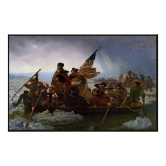 Vintage President George Washington the Crossing Poster