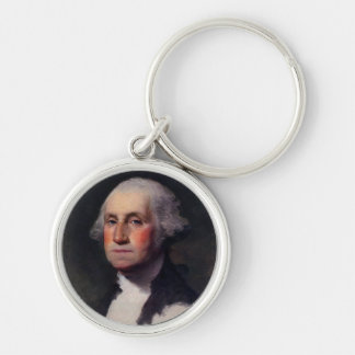 Vintage President portrait of George Washington Keychain