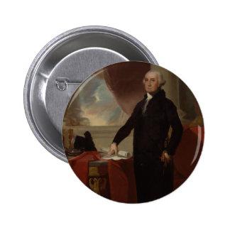 Vintage President portrait of George Washington Pinback Button