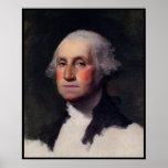Vintage President portrait of George Washington Print