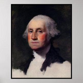 Vintage President portrait of George Washington Poster