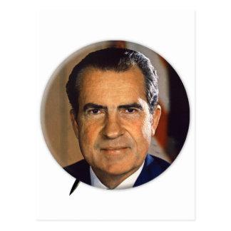 Vintage President Richard Nixon Campaign Art Postcard