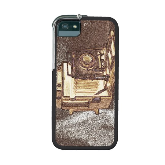 Vintage Press Camera Graft iPhone 5/5S Case, Black iPhone SE/5/5s Cover