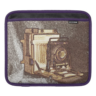 Vintage Press Camera iPad Sleeve, Horizontal