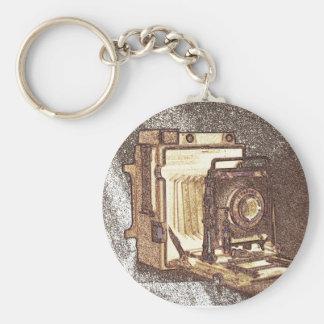 Vintage Press Camera Keychain