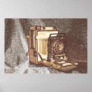 Vintage Press Camera Poster