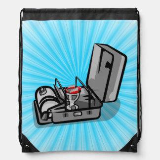 Vintage Pressure Camp Stove Drawstring Backpack
