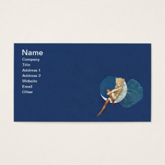 Vintage Pretty Blue Fairy Stockings Blue Moon Business Card
