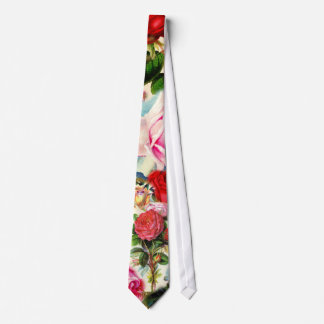 Vintage Pretty Chic Floral Rose Garden Collage Tie