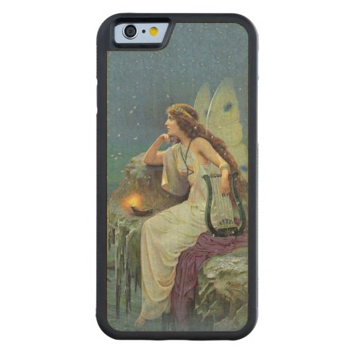Vintage Pretty Fairy Fae Harp Candle Ocean Carved® Maple iPhone 6 Bumper Case
