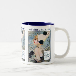 Vintage Pretty Girl is Like a Melody Two-Tone Coffee Mug