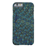 Vintage Pretty Peacock Bird Feathers Wallpaper Barely There iPhone 6 Case