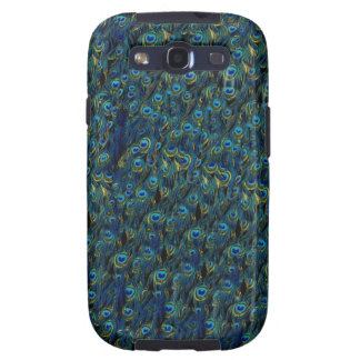 Vintage Pretty Peacock Bird Feathers Wallpaper Samsung Galaxy S3 Covers